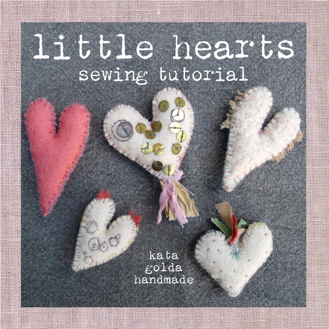 free sewing tutorial: little hearts