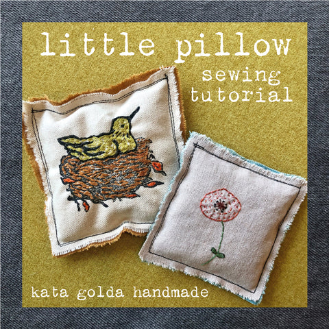 free sewing tutorial: little pillow