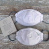 organic cotton face mask: walnut (stitched or plain)
