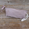 zipper notions pouch: walnut