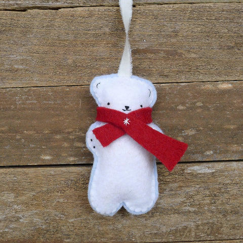 ornament: polar bear