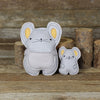 plush pal with baby: mouse and baby