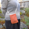 pocket purse: ochre/bee & flower