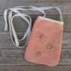 pocket purse: orange/butterflies