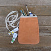 pocket purse: orange/butterflies & vine