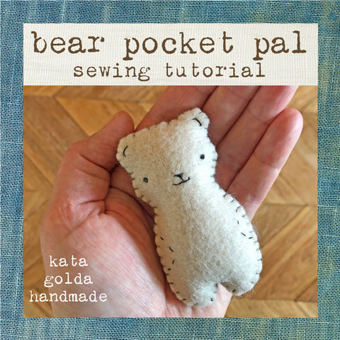 free sewing tutorial: bear pocket pal