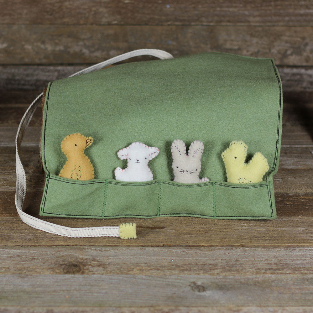 pocket pal play pouch with four pocket pals