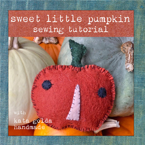 free sewing tutorial: sweet little pumpkin