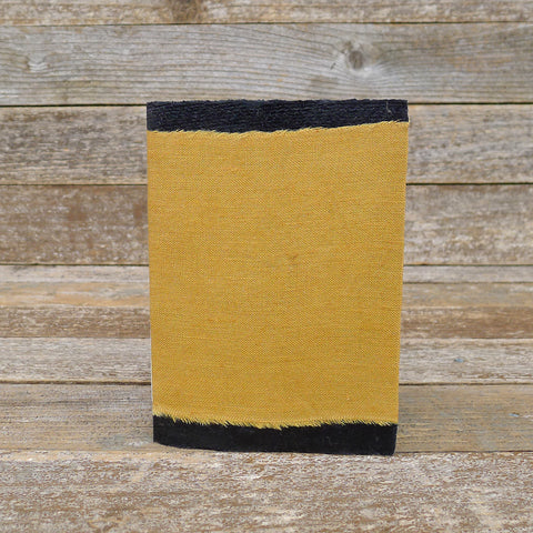 small raw edge linen notebook: ochre