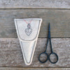 scissor slips: off-white with heart