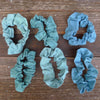scrunchies: plant-dyed organic cotton/linen