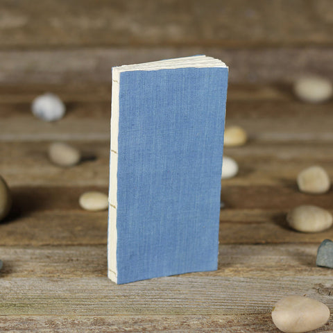 simple linen journal: blue
