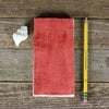 simple linen journal: red