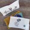 slim block printed zipper pouches