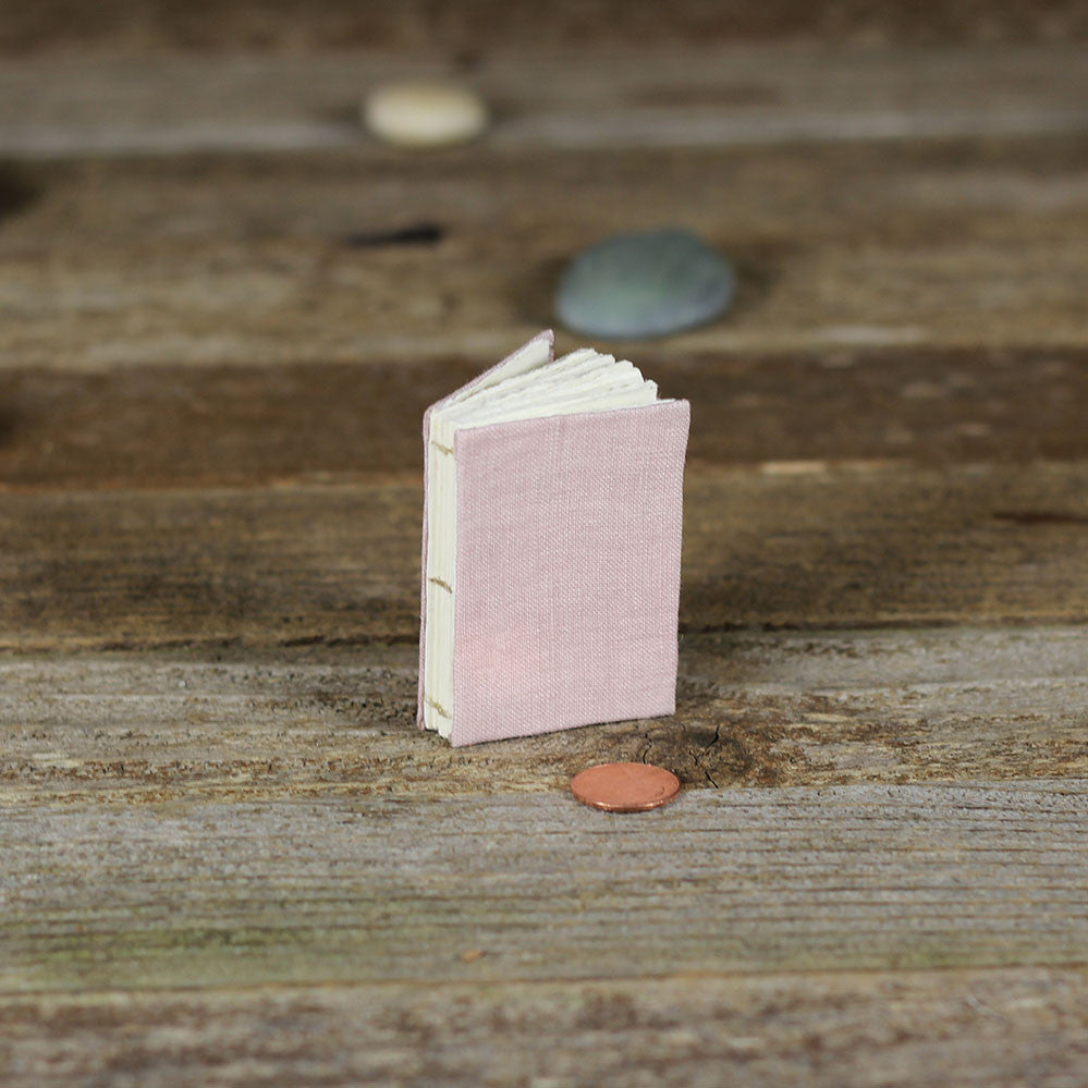 tiny linen journal: dusty rose