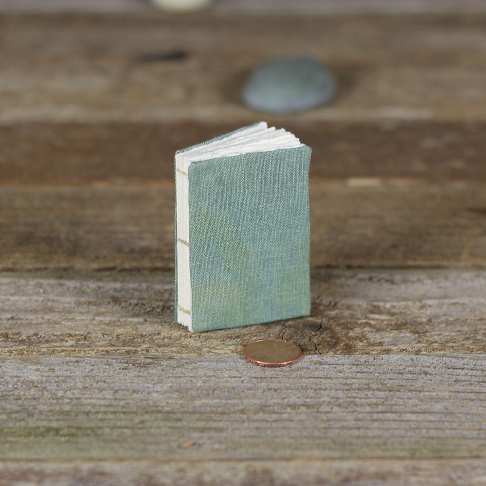 tiny linen journal: green