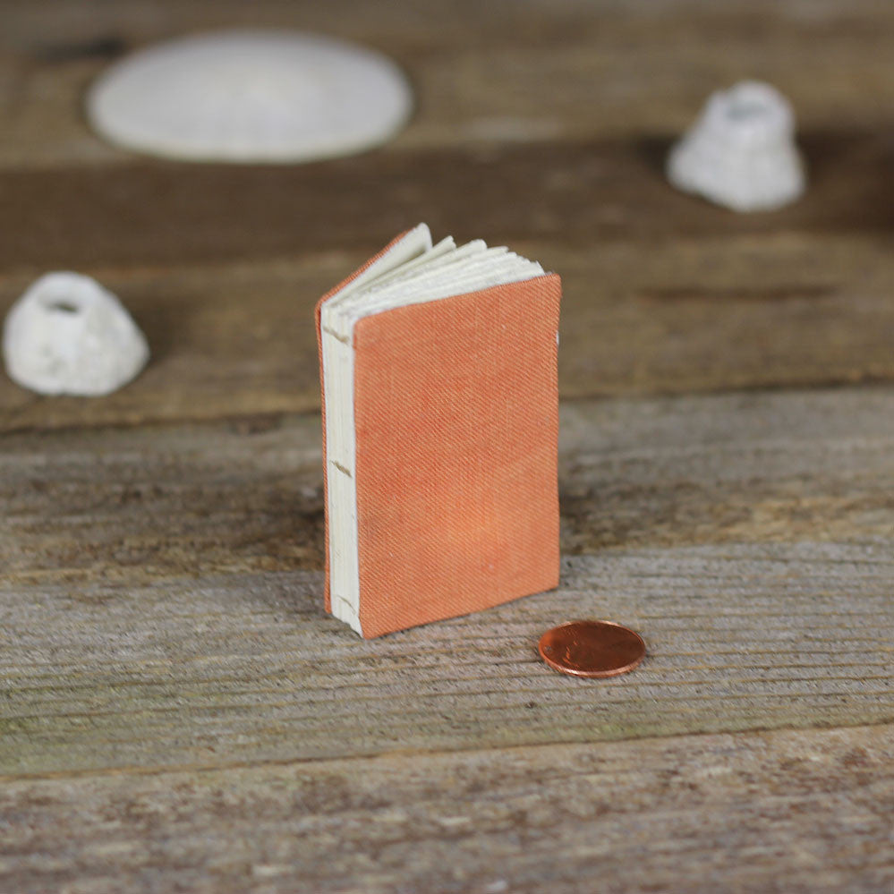 tiny linen journal: orange