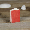 tiny linen journal: red