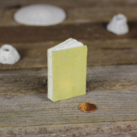 tiny linen journal: yellow