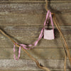 linen treasure pocket with silk strap: dusty rose