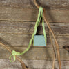 linen treasure pocket with silk strap: green