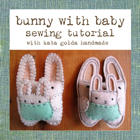free sewing tutorial: bunny & baby