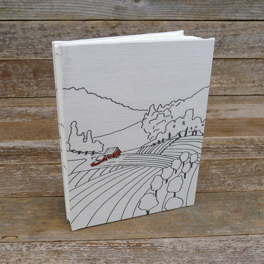 hand-bound journal: farm
