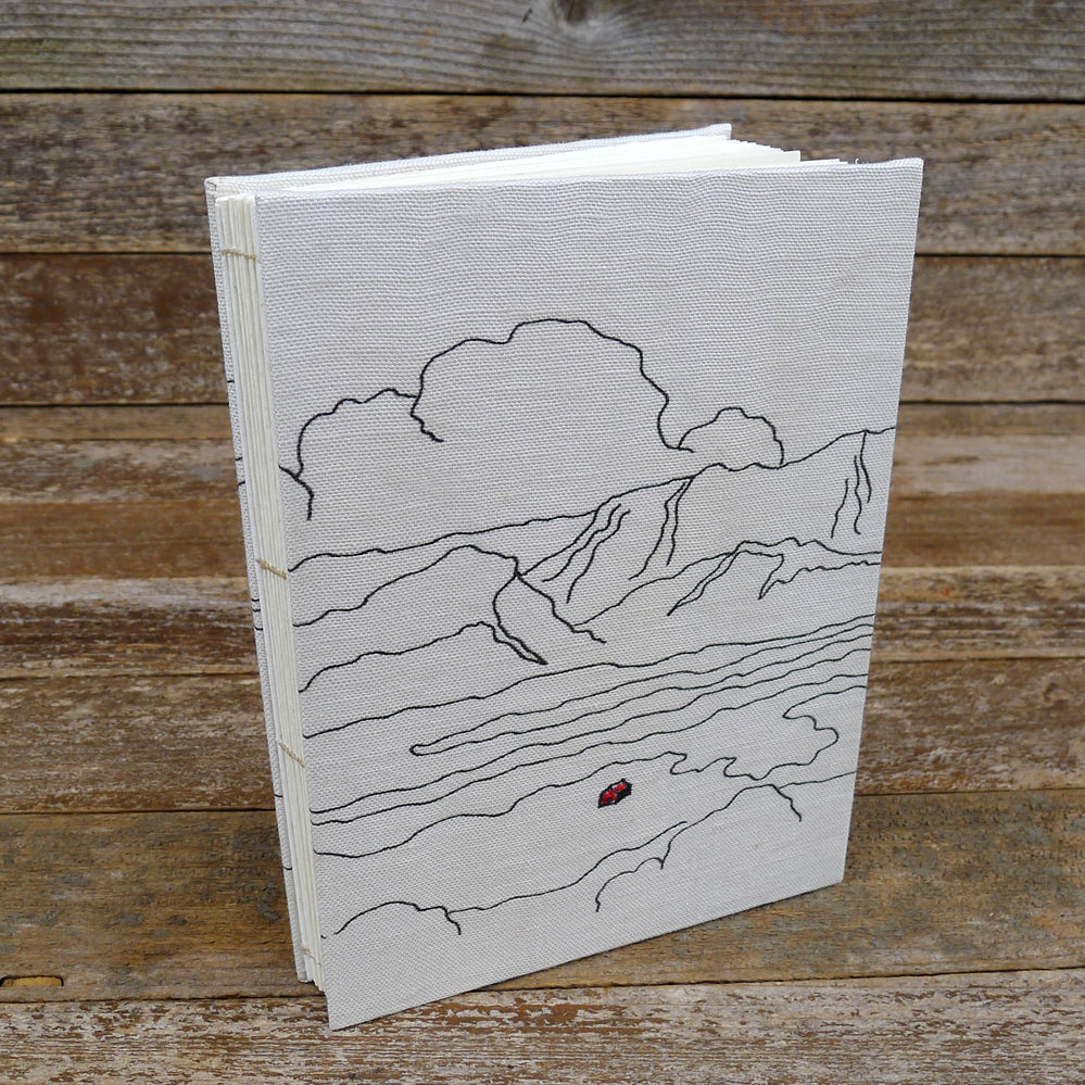hand-bound journal: mountains
