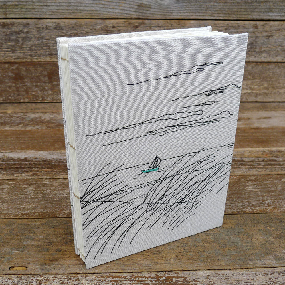 hand-bound journal: seaside