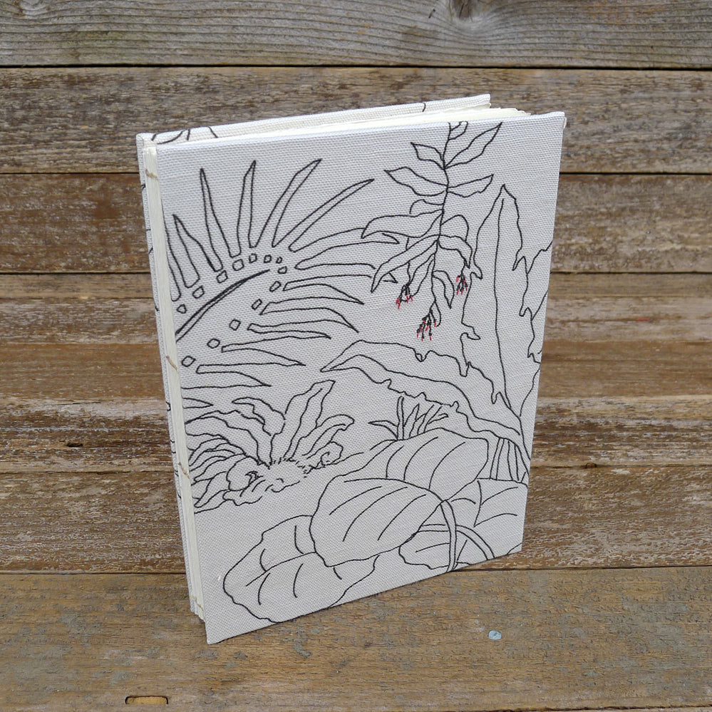hand-bound journal: tropical