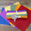 wool felt sheets: brights