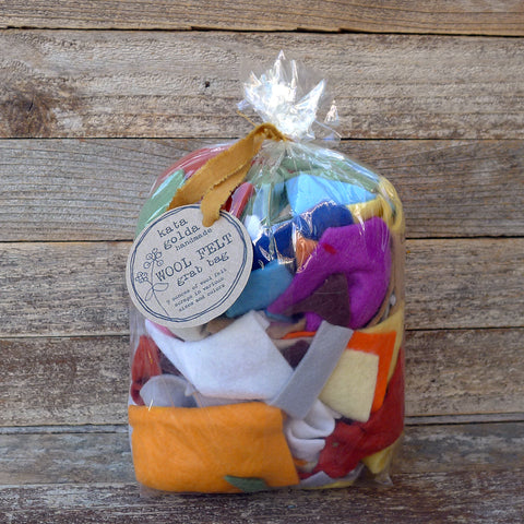 wool felt grab bag