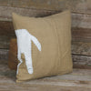wrap around patch linen pillow: horse