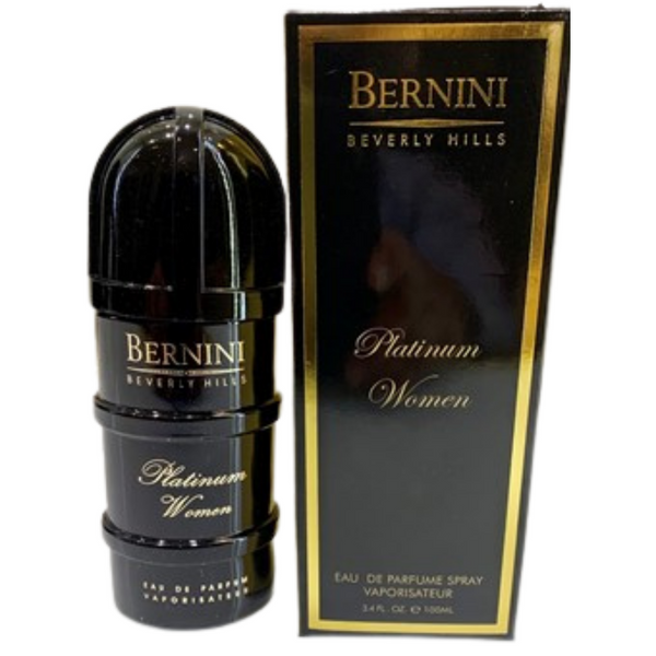 "Bernini platinum cologne original for women eau de parfum spray 3.4 ounces ""new product"""