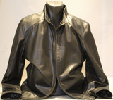 LEATHER JACKET WITH REMOVEABLE COLLAR