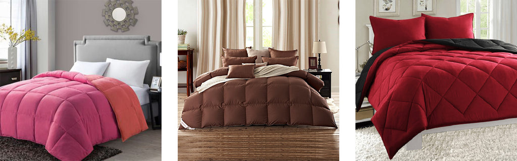 Colored Goose Down Comforter