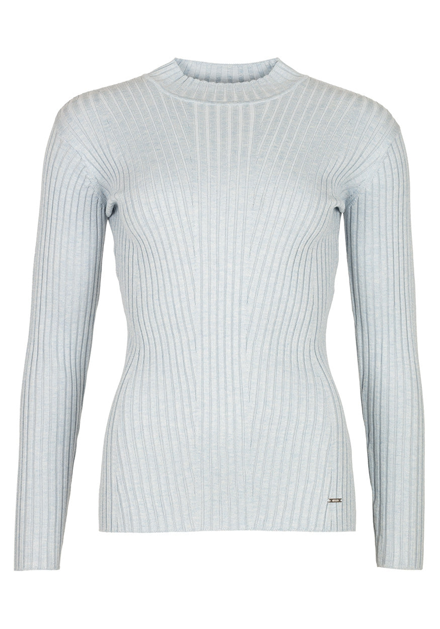 Trui Rib Turtle Neck | Light Blue