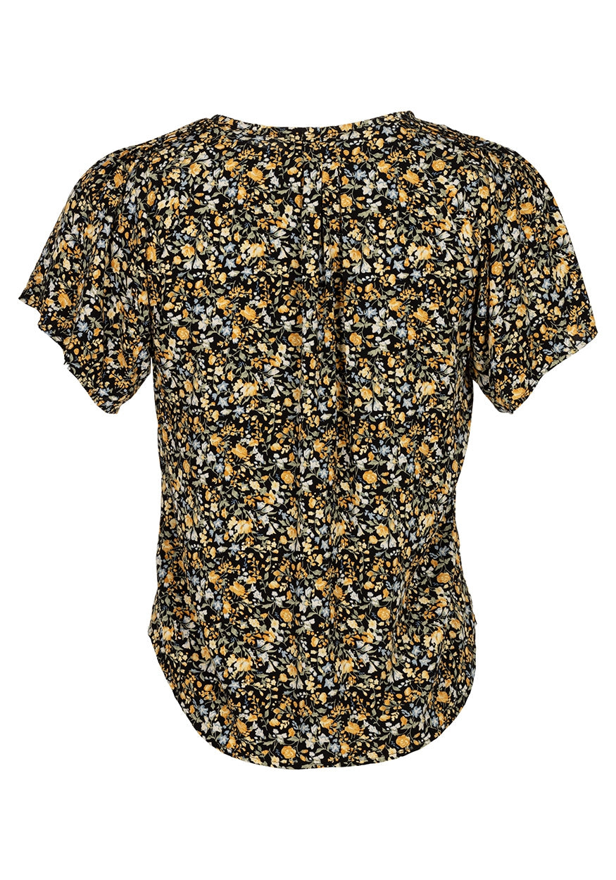 Blouse Evi | Black Yellow Flower