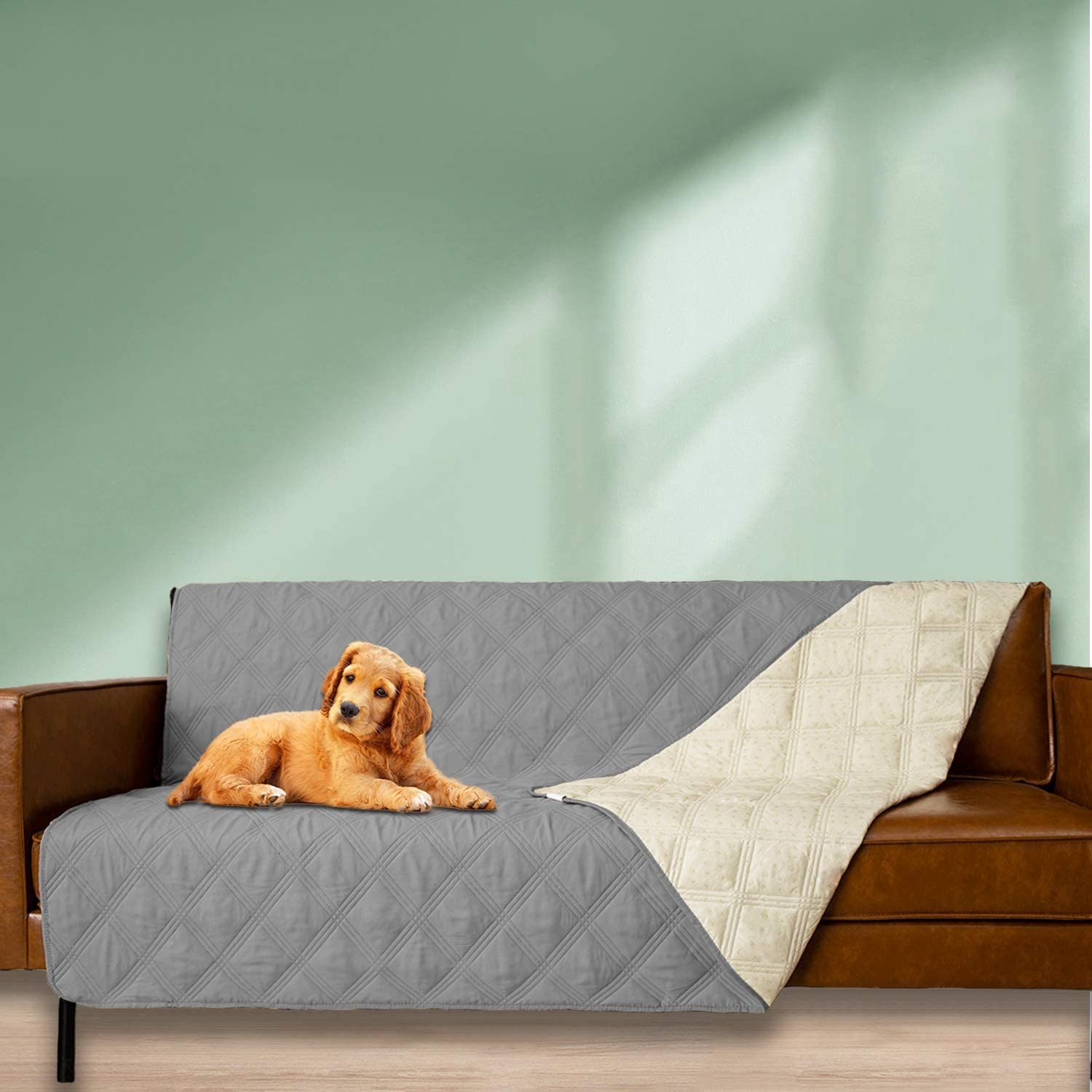 52x82 in,Greyish Green Easy-Going 100/% Waterproof Dog Bed Cover Furniture Protector Sofa Cover Non-Slip Washable Reusable Incontinence Bed Underpads for Pets Kids Children Dog Cat