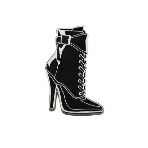 Black boot lapel pin