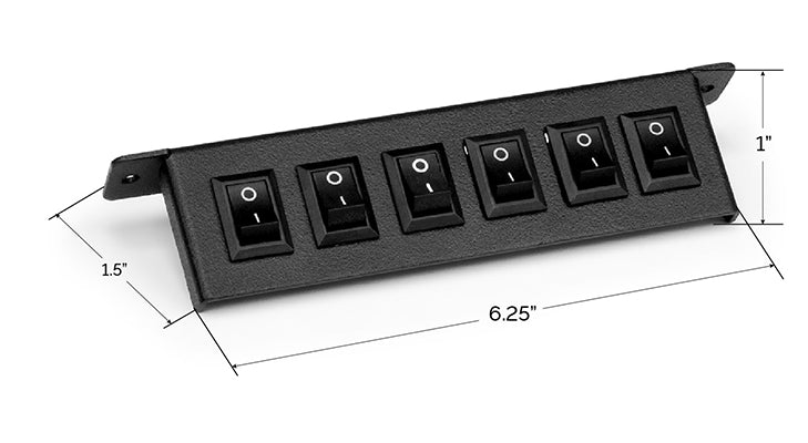 UBL 6 Switch Panel Dimensions
