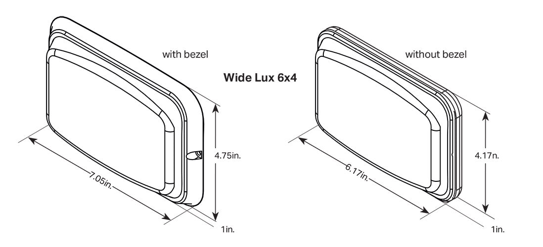 Wide-Lux 6x4 Dimensions