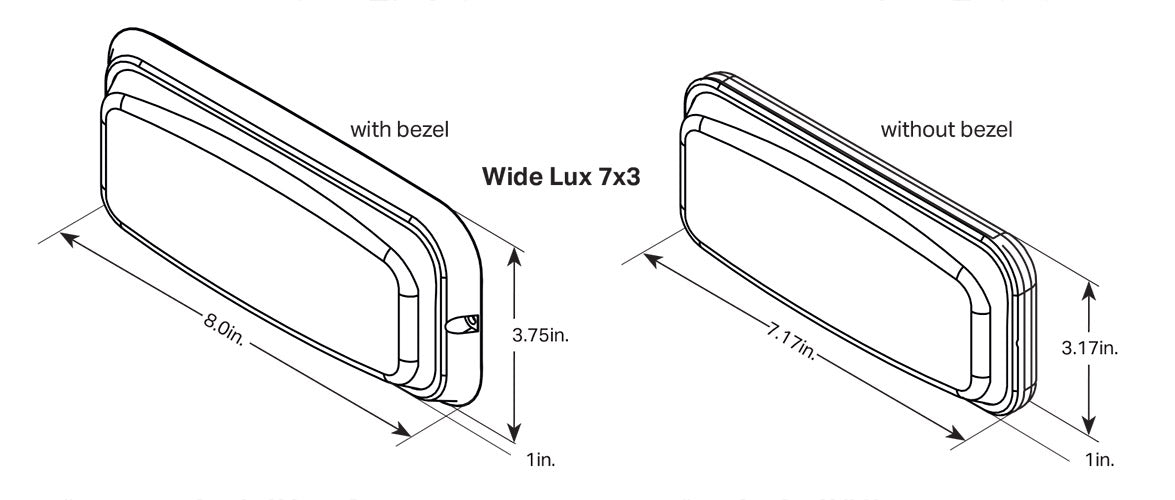 Wide-Lux 7x3 Dimensions