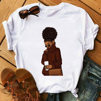 Black African Curly Hair Girl T-shirt