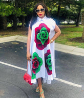 African Dresses for Women 2021 New African Clothes Dashiki White Print Ankara Dresses Bazin Traditional Robe Africa Long Dress