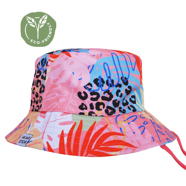 Chapeau réversible - Tropical Pink - Headster Kids