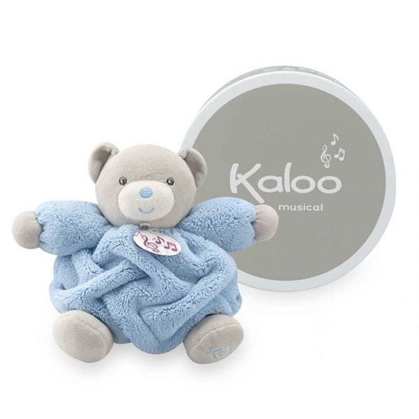 Patapouf ourson musical bleu petit collection Plume- Kaloo