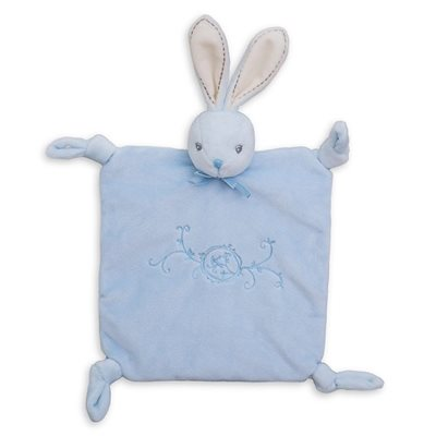 Doudou lapinou 4 noeuds bleu collection Perle- Kaloo
