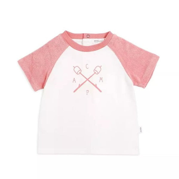 T-Shirt corail Camp - Miles Baby