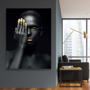 Tablou canvas HIDDEN GOLD FACE